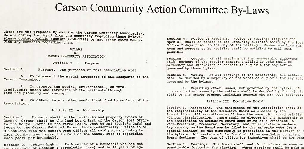 CCA proposed bylaws 1995